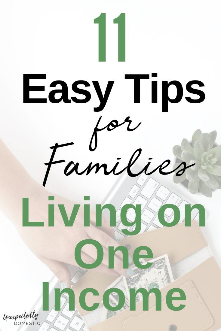 How to live on one income: 11 tips for living well on a tight budget #savingmoney