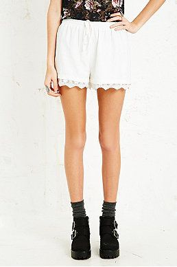 Cooperative Jacquard Lace Shorts in White