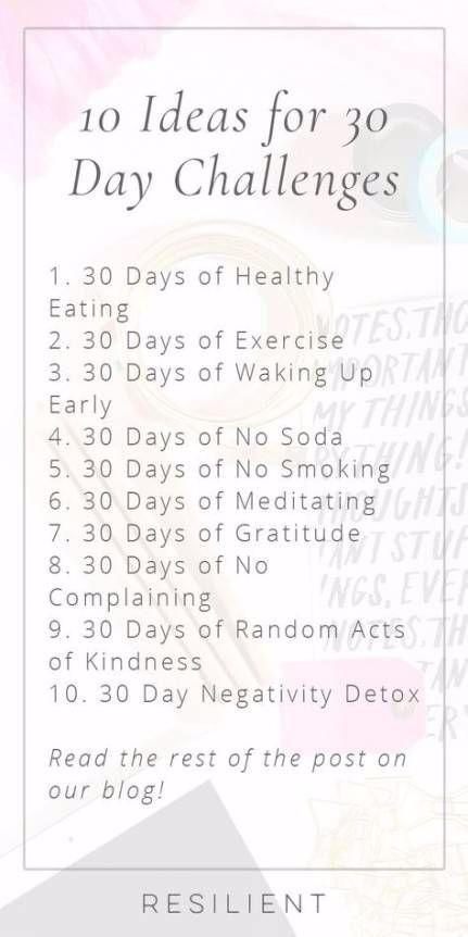 Fitness Challenge Ideas Fun 30 Day 40 Super Ideas #fitness