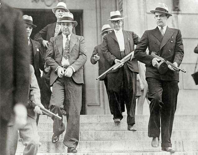 American Gangster Mobster GEORGE MACHINE GUN KELLY 8x10 Photo Mugshot Poster