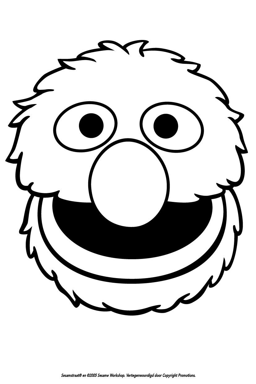 Grover Silhouette Sesame Street Coloring Pages Sesame Street Birthday Party Sesame Street