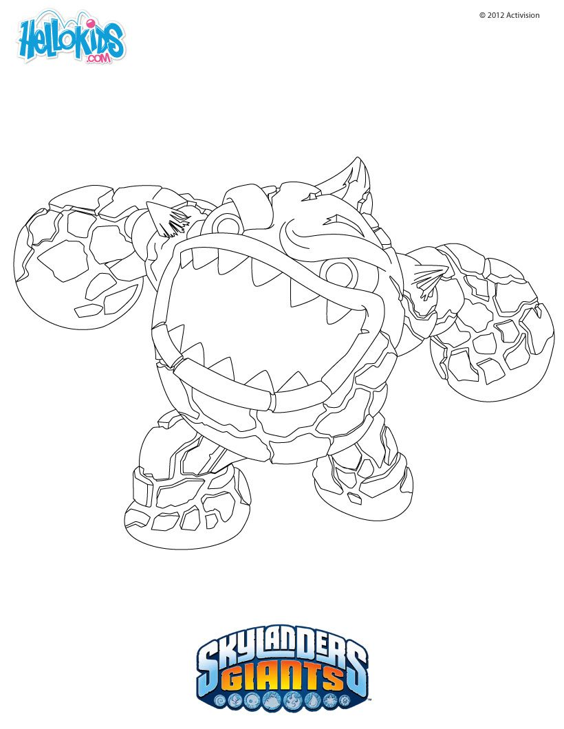 Skylanders Coloring Pages ERUPTOR printable page to do with the