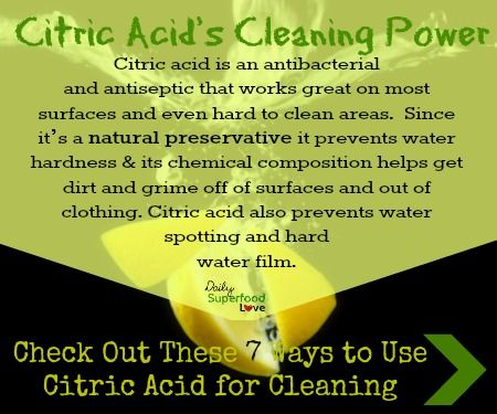 Citric acids cleaning power | Cleaning | Cleaning hacks
