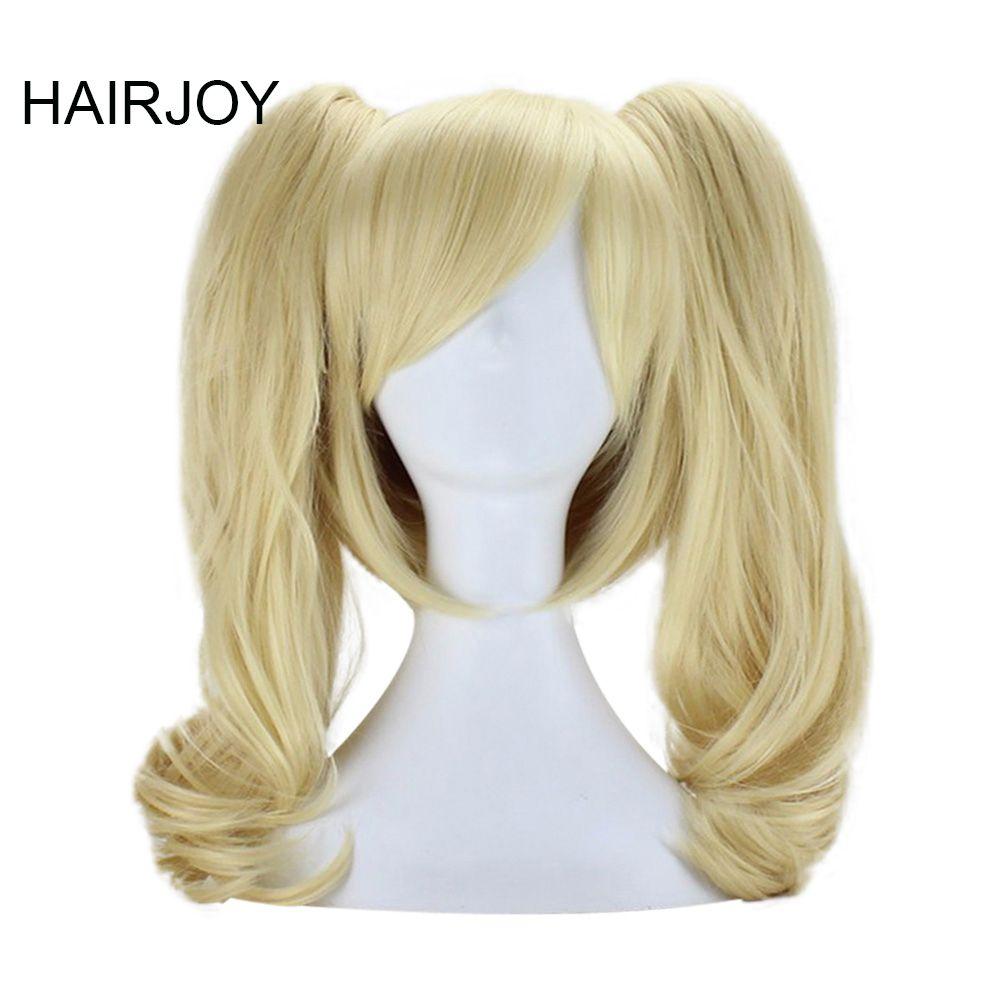 Hairjoy 50cm Medium Light Blonde Wavy Synthetic Women Party Costume