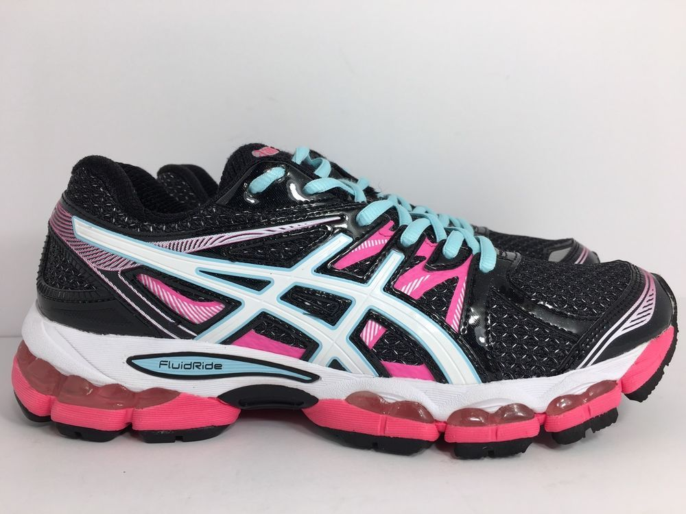 f8906807c450 Asics-Gel-Evate-2-Running-Shoes-Women S T4A7N--Black pink Green Size 9.5 M