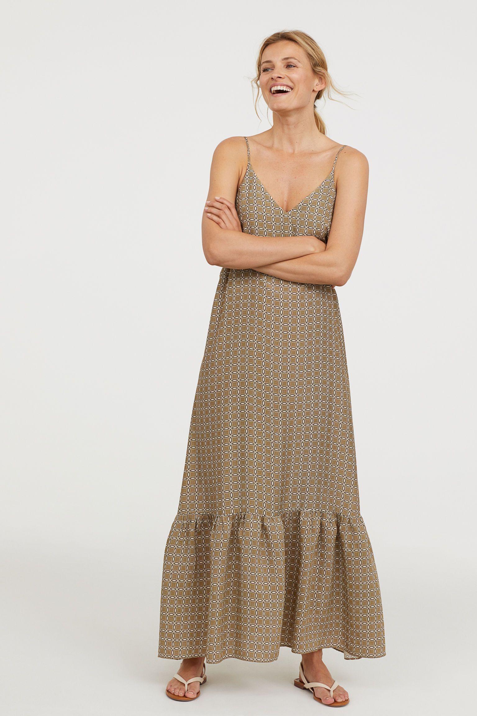 Long vneck dress maxi dress pinterest khaki dress dresses
