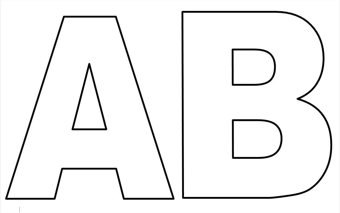 Moldes de Letras Grandes para imprimir | Fotos y Ems