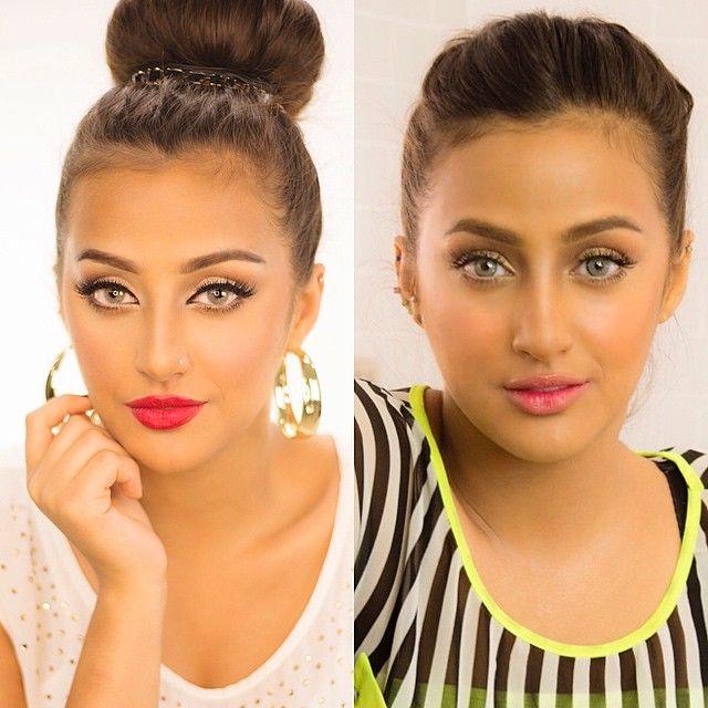 11 9k Likes 926 Comments Hanan Alnajadah حنان النجادة Hananalnajadah On Instagram Same Girl Different Makeup Hoop Earrings Earrings Drop Earrings