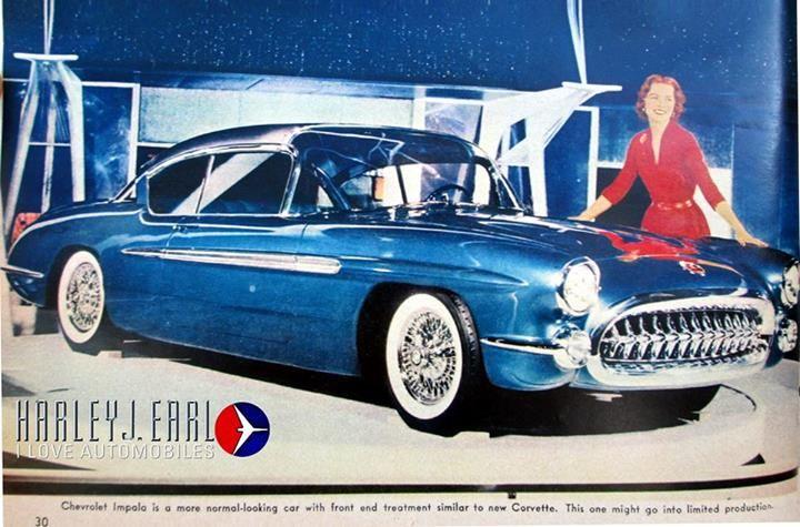 1956 Chevrolet Impala Show Car Retro Cars Concept Cars Custom