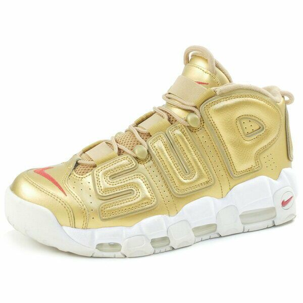 a3128044321 eBay  Sponsored SUPREME NIKE 17SS AIR MORE UPTEMPO 902290-700 sneakers GOLD  US 9.5