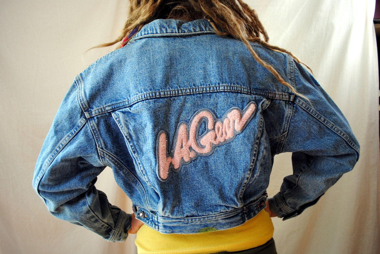 Vintage 80s Cropped La Gear Denim Jacket Denim Jacket Cropped Denim Jacket Jackets [ 1004 x 1500 Pixel ]
