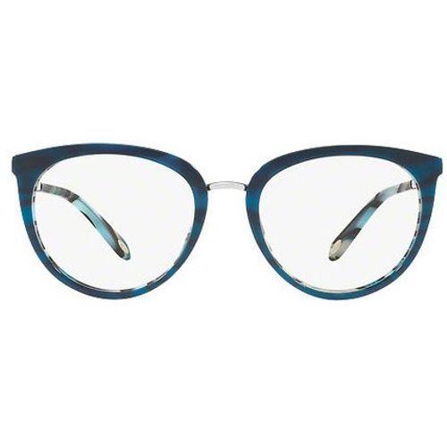 4ae9a0e55 Oculos de grau da grife Tiffany produzido em metal dourado com frontal em  acetato azul mesclado