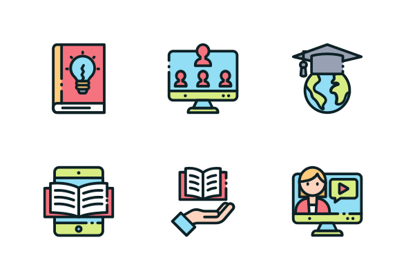 E Learning Icons By Yellowline Elearning Business Icons Design Icon