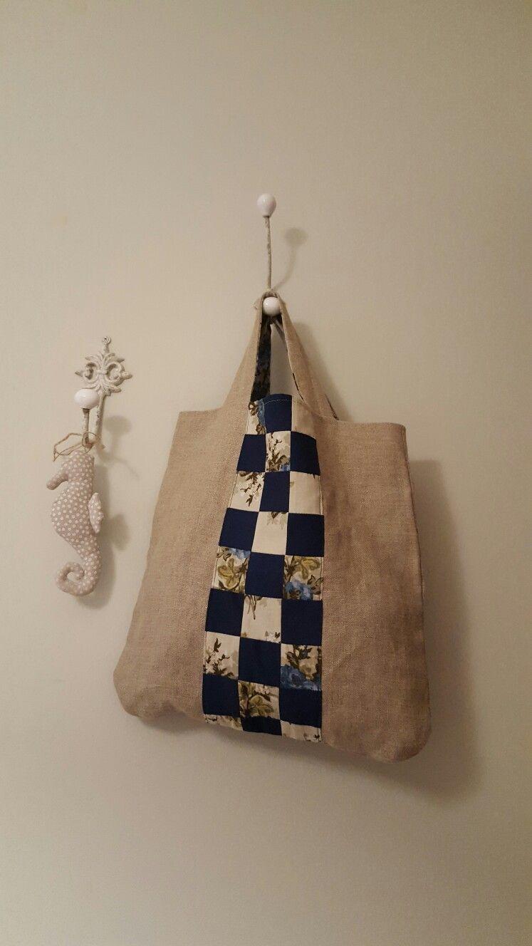 Bolso lino patchwork