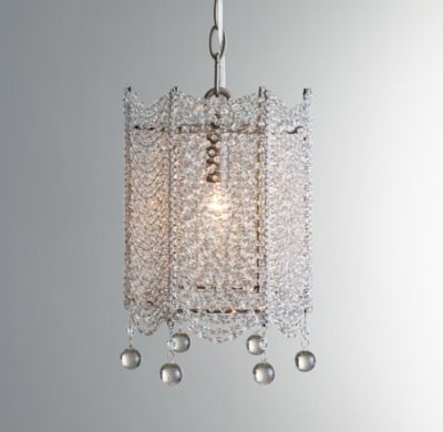 Rh babys coco crystal accent chandelierdraped strands of faceted crystals form a glittering surround