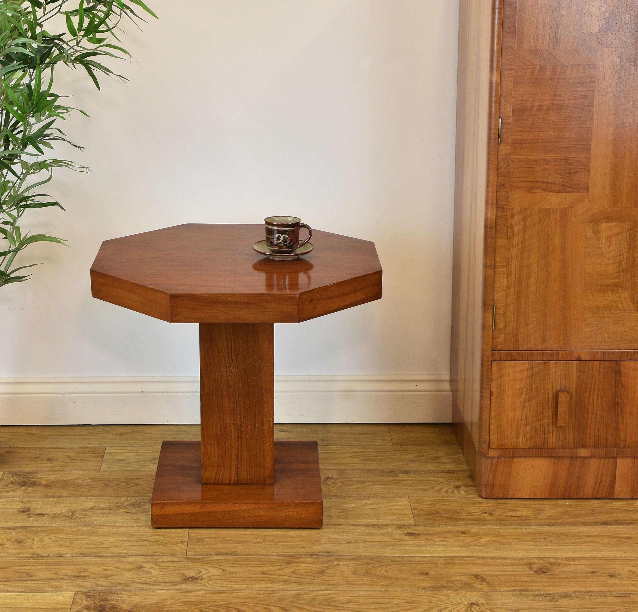 art deco coffee table wood