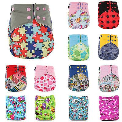 Adjustable Baby Washable Soft Nappy Reusable Cloth Diaper Nappies Cover Wrap