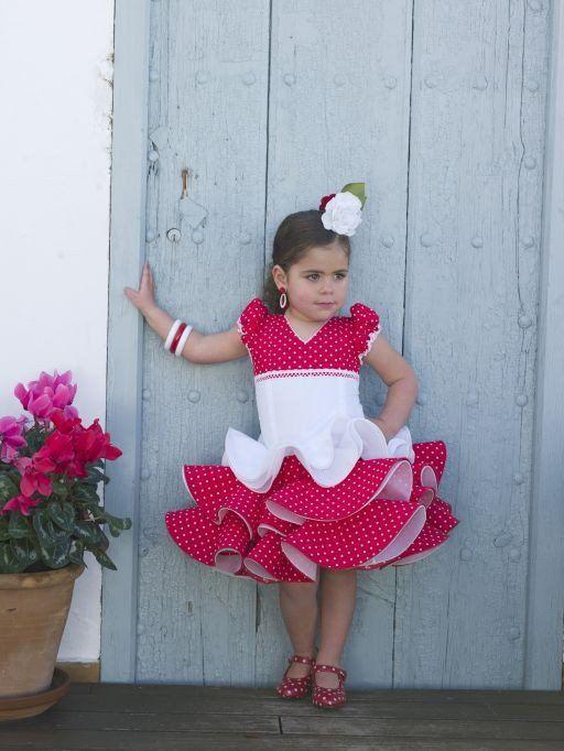 a680ef3b4 Traje corto niña | Фламенко | Vestido flamenco niña, Traje flamenca ...