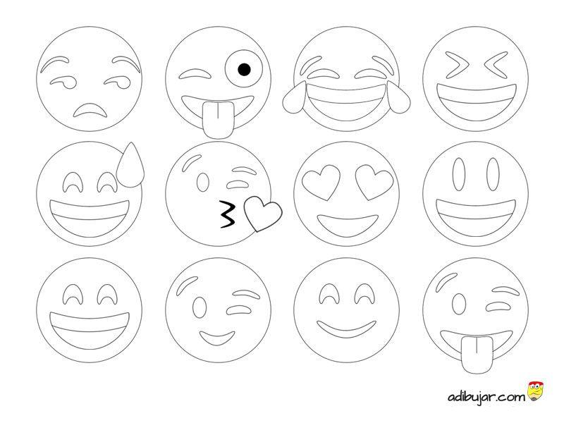 Los 12 emoticonos más usados en Whatsapp listos para imprimir y ...