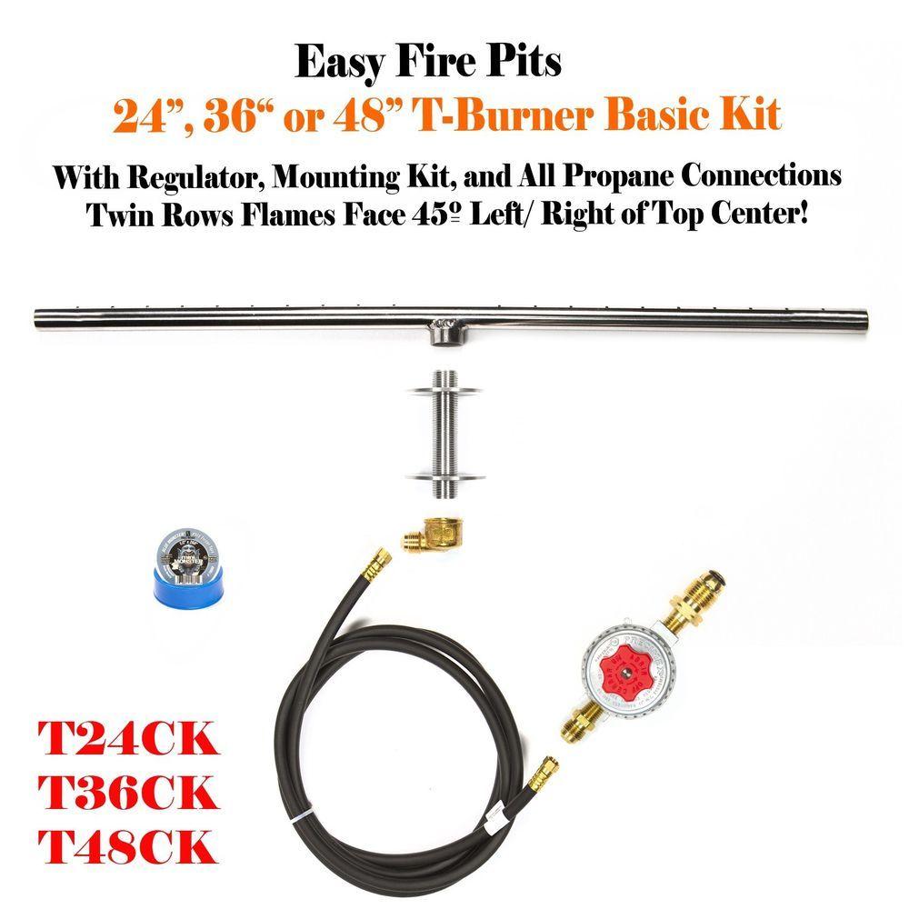 Details about t48ck basic propane diy gas fire pit kit