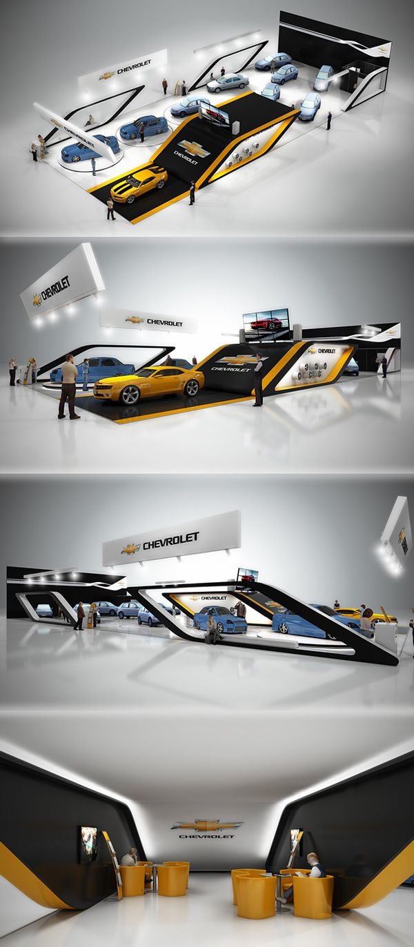 Exhibition Booth Sia : Chevrolet sia ukraine on behance exhibition booth