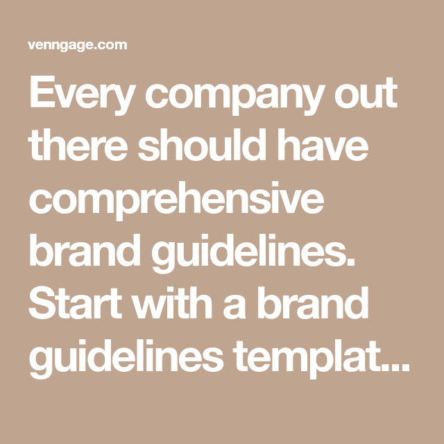 70 Brand Guidelines Templates Examples Tips For Consistent Branding Venngage Brand Guidelines Guideline Template Brand Guidelines Template