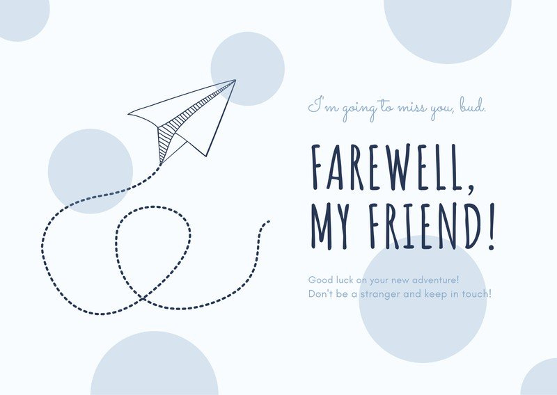 Printable Farewell Cards You Can Customize For Free Canva Within Quality Sorry You Re Leaving Card Temp Farewell Cards Farewell Invitation Card Card Template