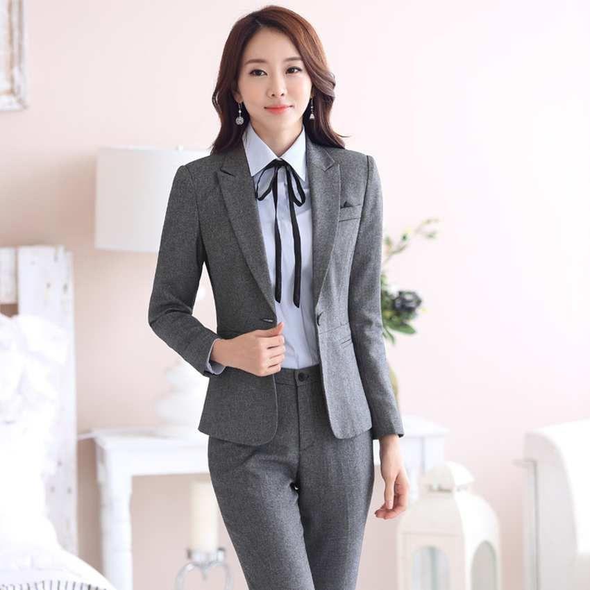 Spa Uniforms For Women 2 Piece Dress Coat Suit Formal Wear Blazer