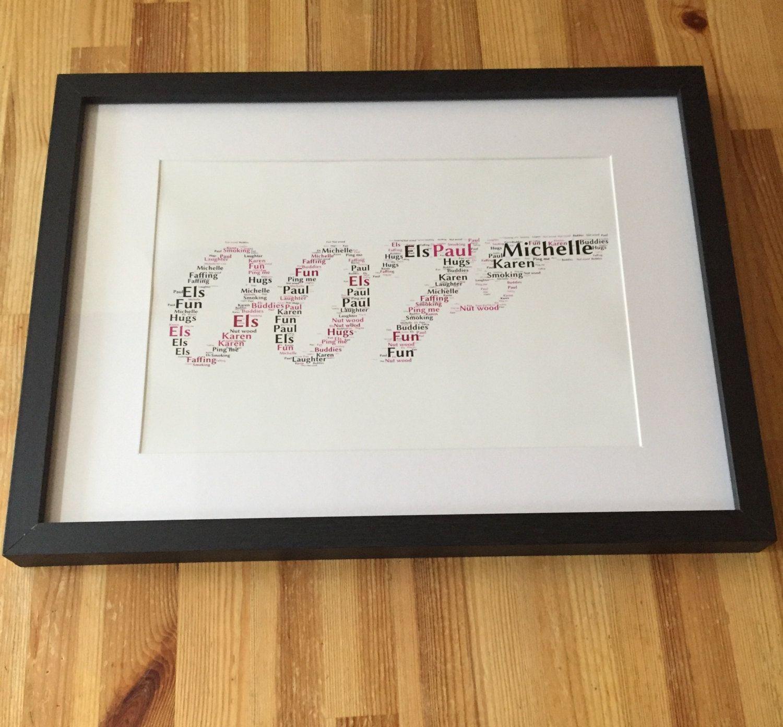 framed word art 007 design fully personalised gift for james bond