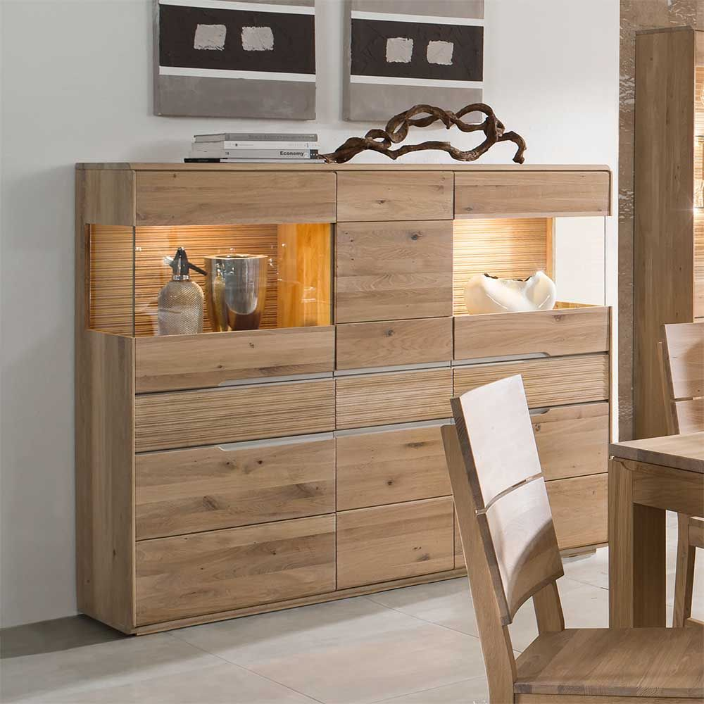 Esszimmer Eiche Steinoptik Sideboard Highboard Esstisch: Pin By Ladendirekt On Schränke In 2019