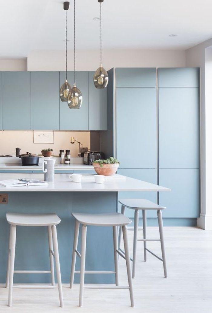 1001 + moderne und stilvolle Küchen Ideen in Blau! in 2020