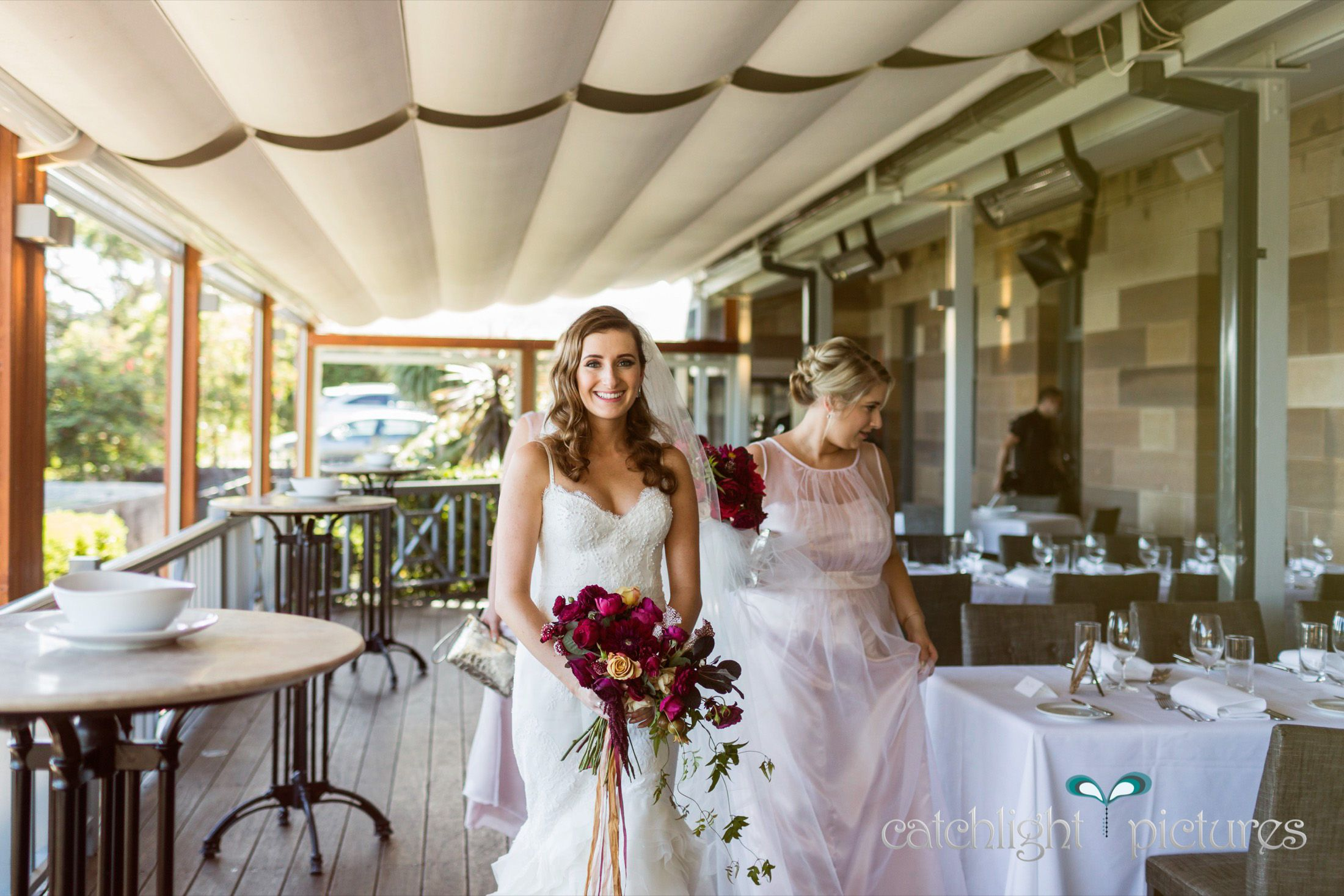 Nicole arrives at #Gunners Barracks, Mosman for her ceremony on Saturday. Love this wedding venue and the gorgeous outdoor decking area where guests enjoy one of the best views in Sydney