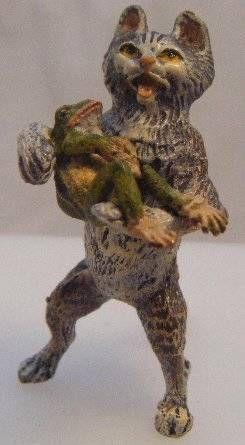Cold Painted Rabbit Bergman Style Gift Art Bronze Sculpture Statue Figurine Sale