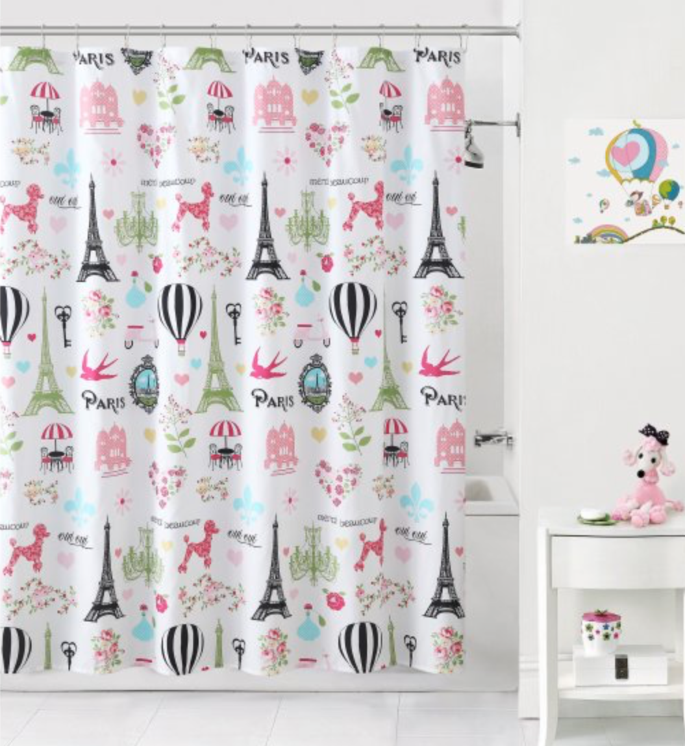 Fabric Shower Curtains That Photographers Are Using As Backdrops Shower Curtain Backdrop Paris Bathroom Decor Kids Bathroom Shower Curtain Kid Bathroom Decor