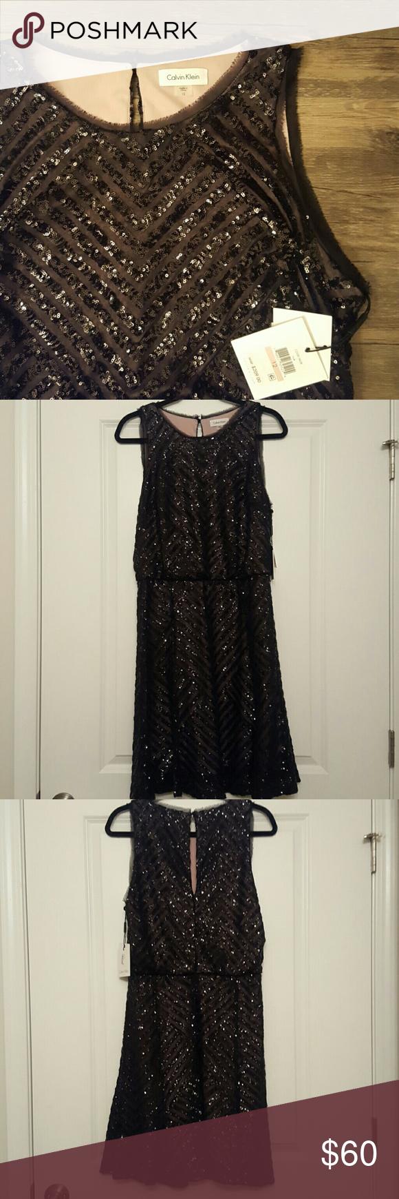 Calvin Klein Black Sparkle dress sz 12 NWT Calvin Klein Black Sparkle dress sz 12 Calvin Klein Dresses Midi