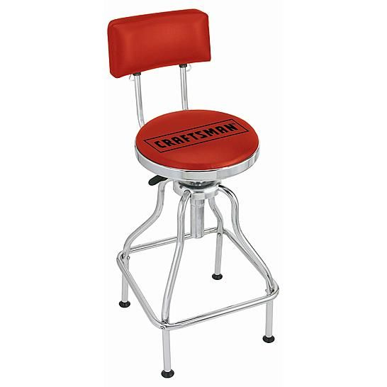 Craftsman Hydraulic Stool Red Stool Craftsman Home Decor