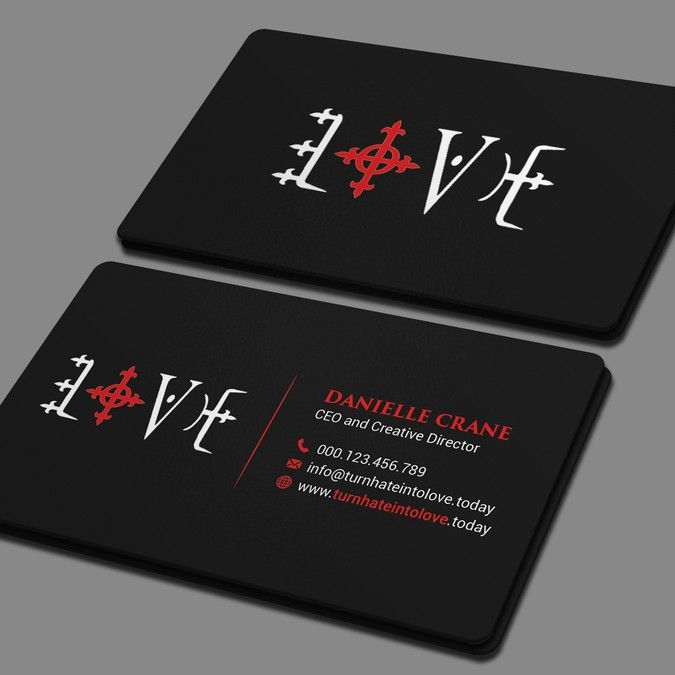 Create an eye catching business card for turn hate into love by create an eye catching business card for turn hate into love by marvellous aa colourmoves