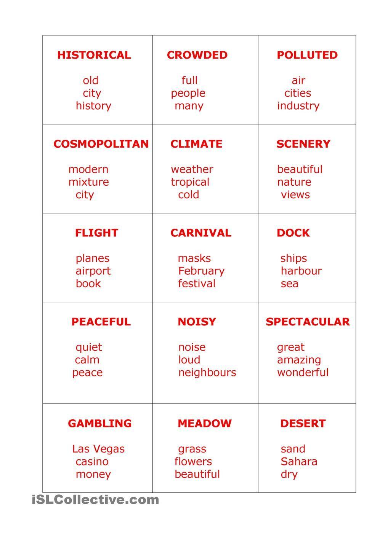 Taboo Cards Taboo Cards Describing Words Taboo Game