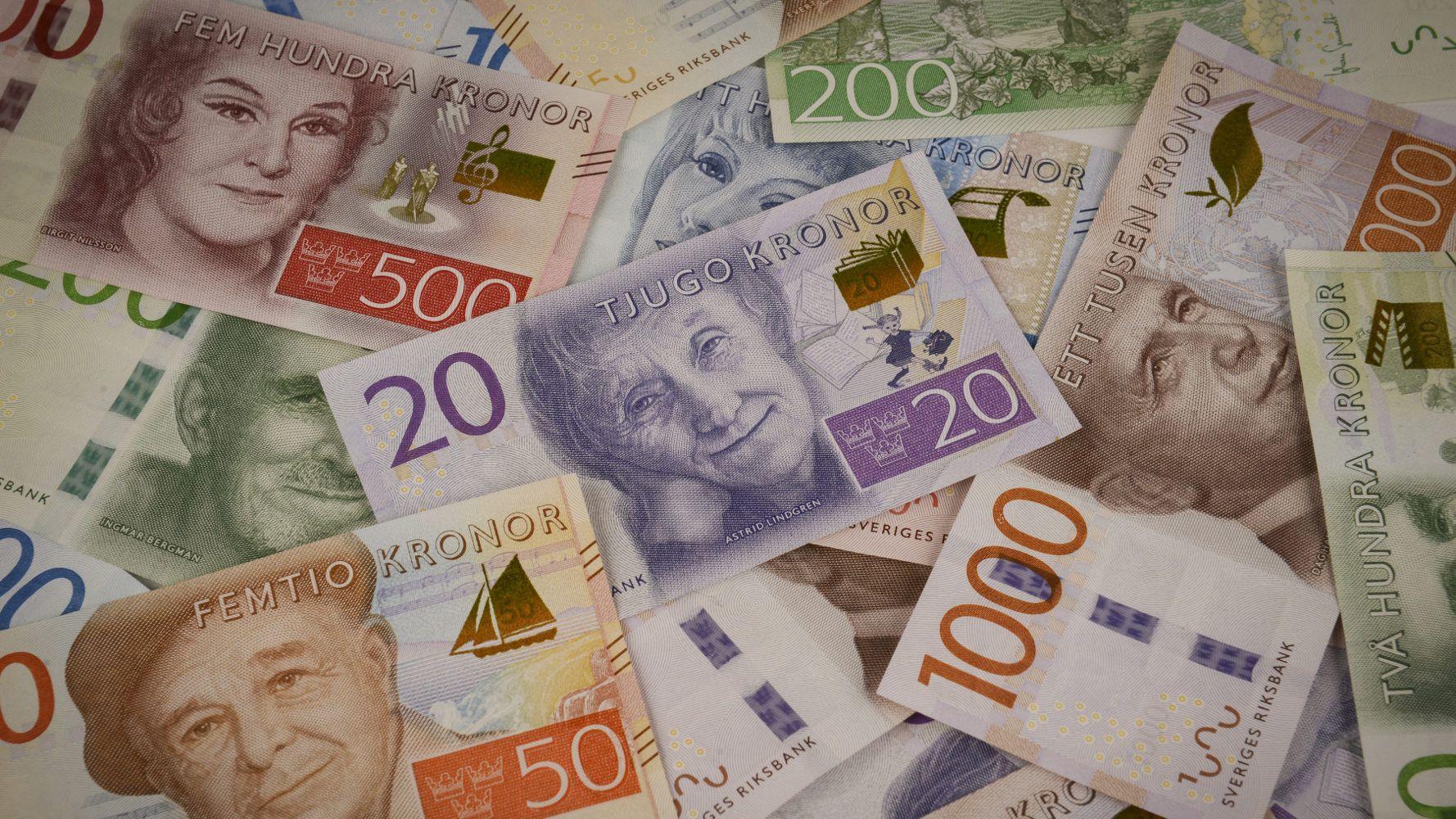 Schwedische Kronen Neue Scheine Und Munzen Scheine Geld Schweden