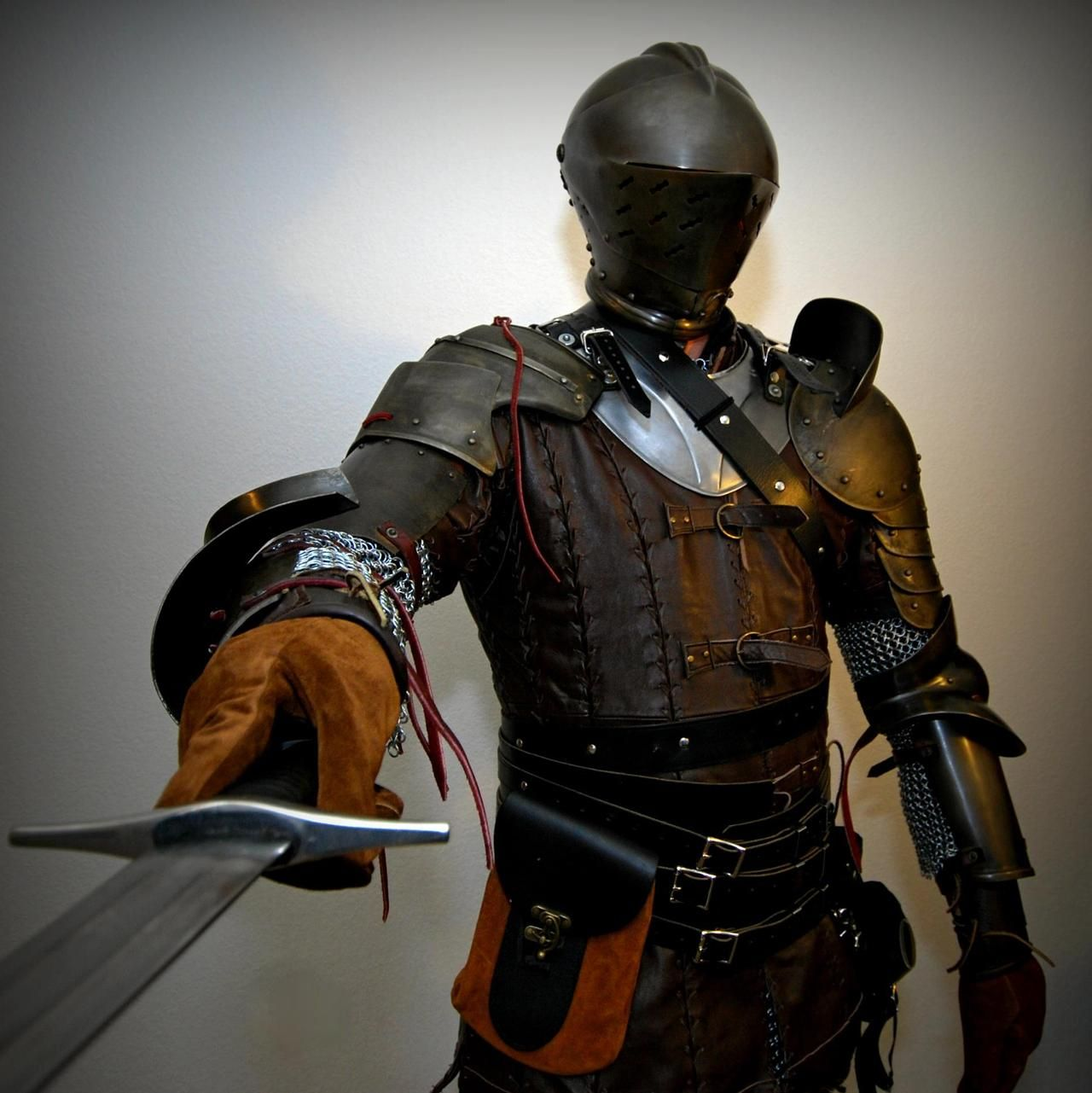 Armour and Armour Accessories - paralleldigital: Our lead putting on some of the...