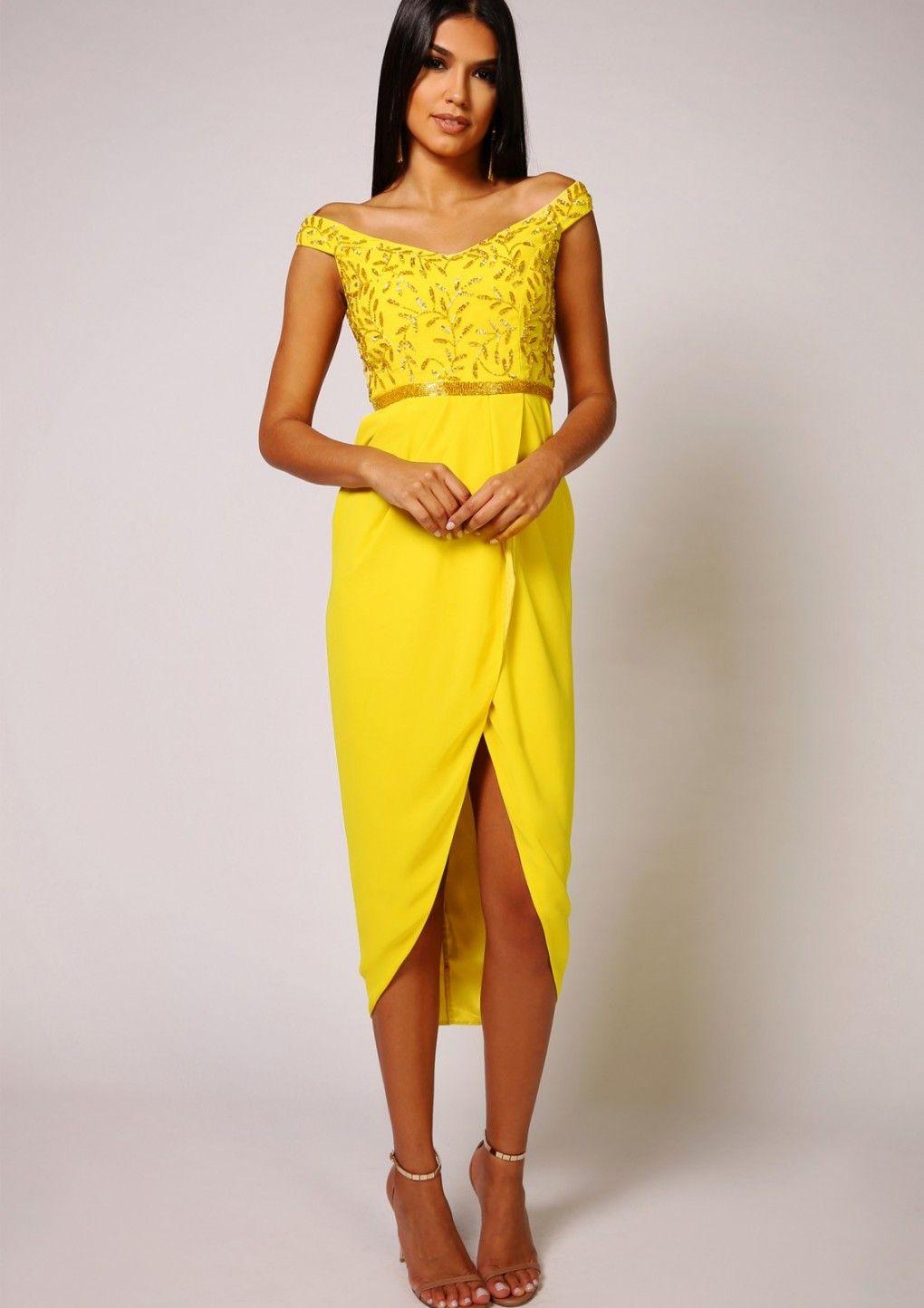 Juliana midi yellow dresses u fashion pinterest dress fashion
