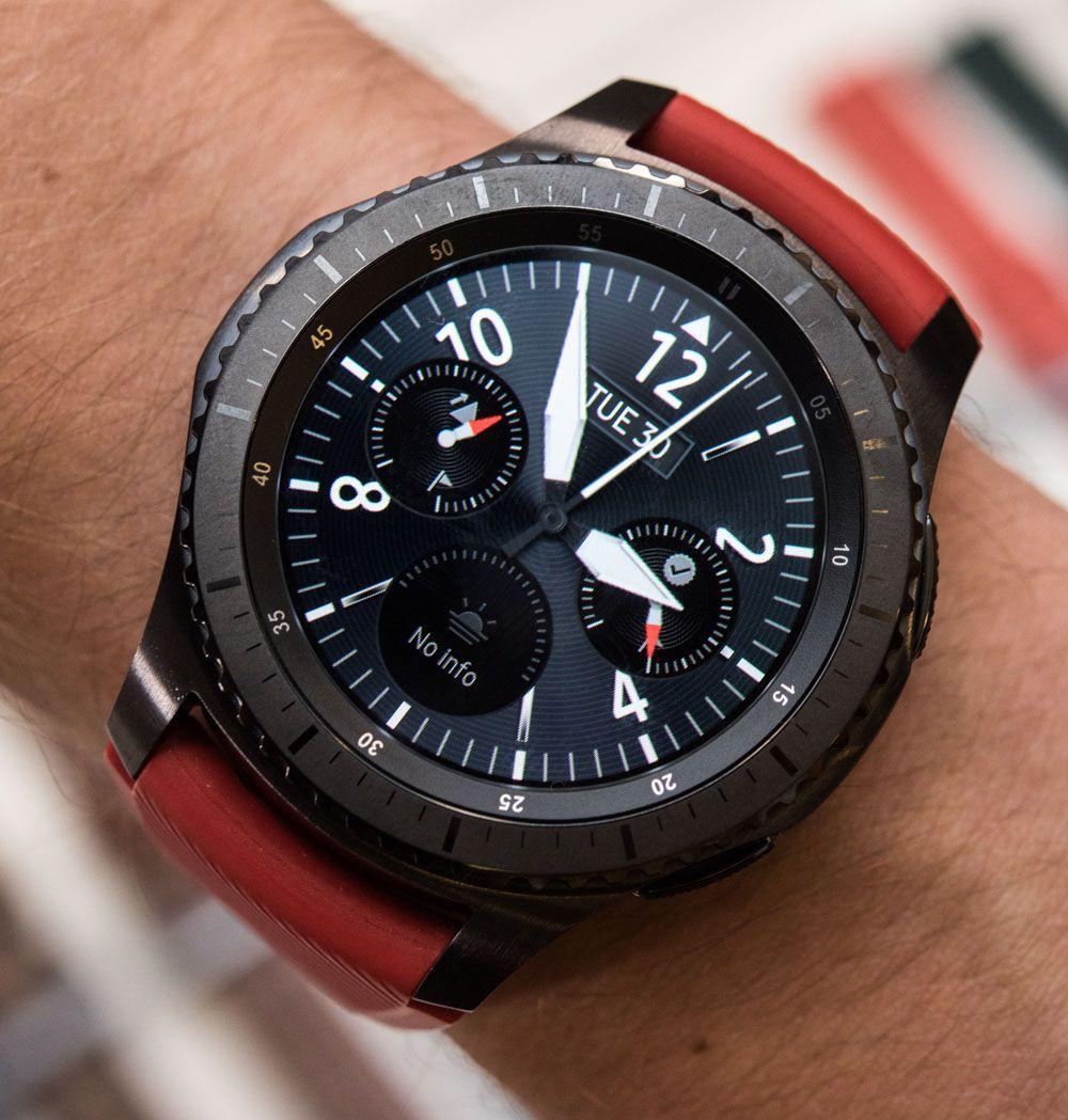 Samsung Gear S3 Frontier Classic Smartwatch Hands On Debut Ablogtowatch Samsung Gear S3 Frontier Gear S3 Frontier Samsung Watches