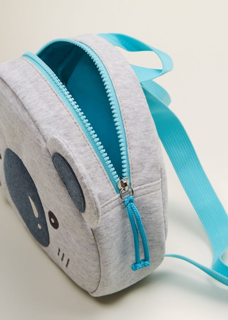 Mini Mochila Black Baby Blue Alien Mochilas