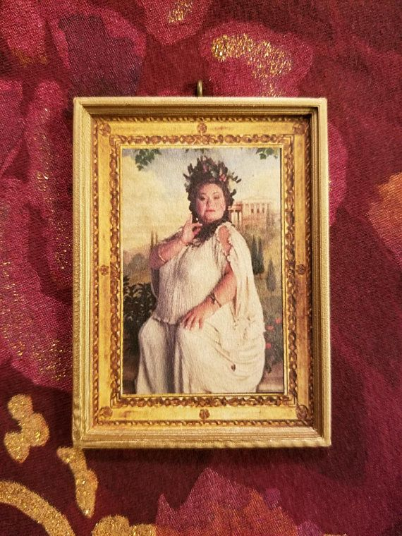 the fat lady inspired portrait christmas ornament gift for harry