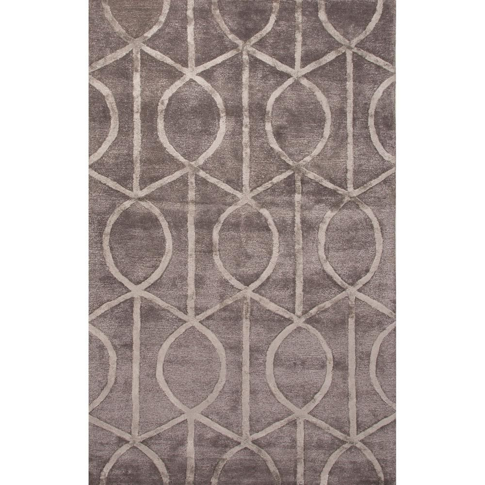 Hand Tufted Bungee Cord 2 Ft X 3 Ft Trellis And Chain Accent Rug Bungee Cord Silver Silk Area Rugs Area Rugs Hand Tufted Rugs