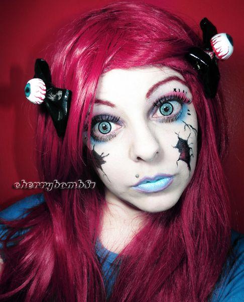 Halloween Makeup Look Broken Doll http://www.makeupbee.com/look.php?look_id=66745