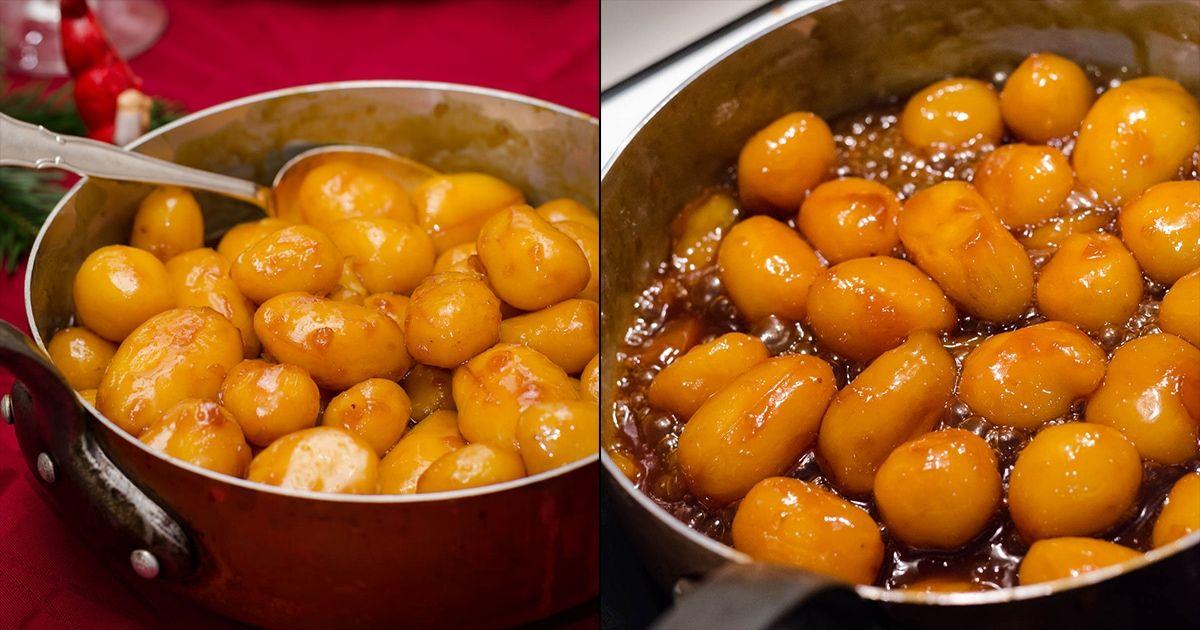 Brunede kartofler - opskrift på perfekte brunede kartofler | Rigeligtsmør.dk #brunedekartofler
