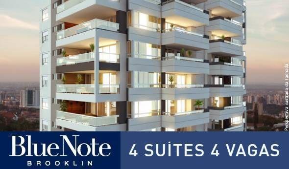 Blue Note Brooklin - Apartamentos de 225m², Duplex 380m² - 4 suítes na Rua Arizona, 672 - Zona Sul de São Paulo - SP--Preço a partir de: R$ R$ 2.201.800,00