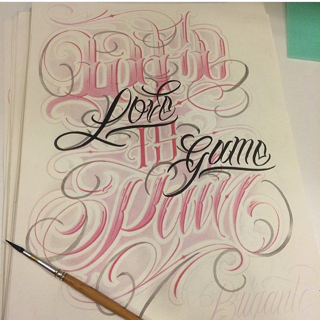 100 Tattoo Lettering Designs For Your Body Art: Pin By My Info On Script Lettering
