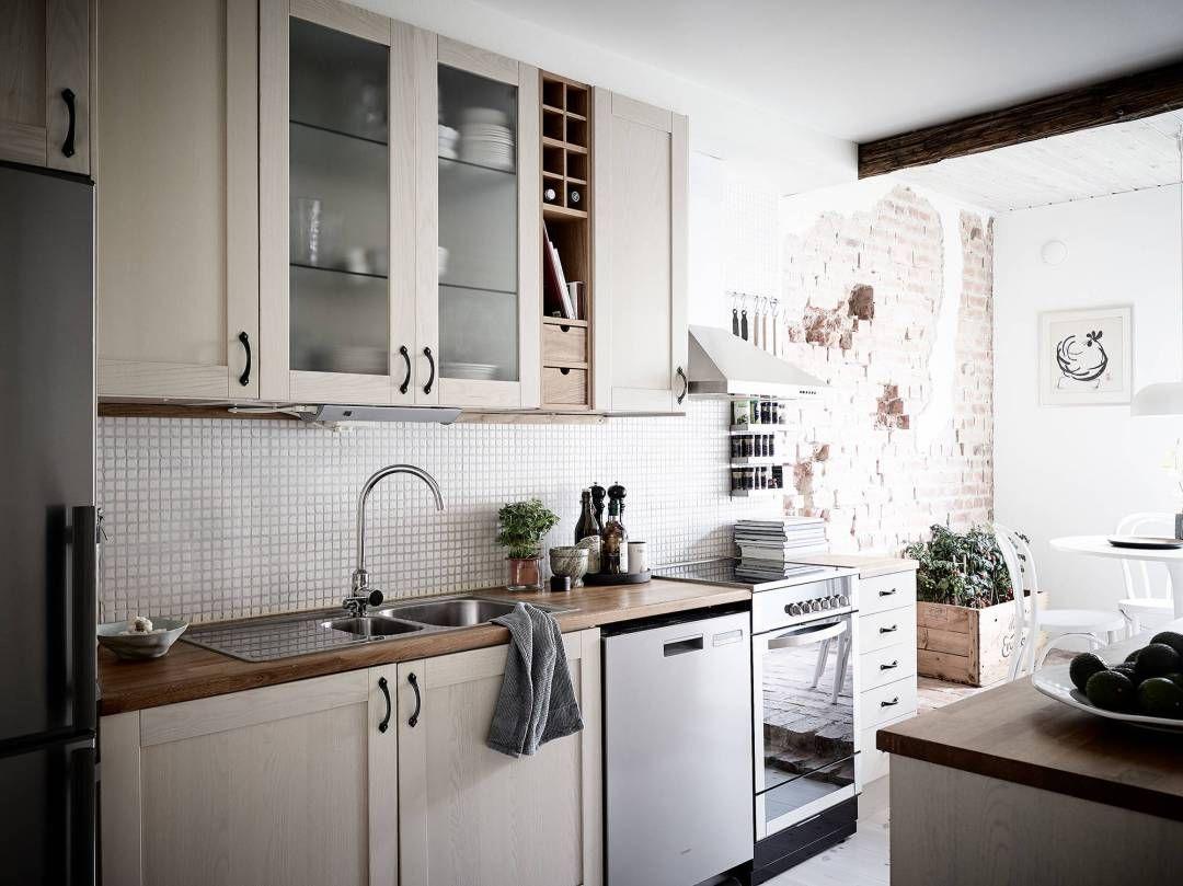 suelo de ladrillo visto revestimiento de cocinas pared de ladrillo ...